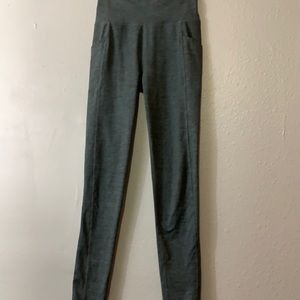 Manduka essential high waisted grey leggings